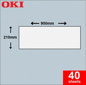 Oki A4 Banner Paper 210mm x 900mm