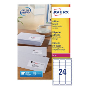 Avery White Quick Peel Address Labels 64x34mm (6000 Pack) L7159-250