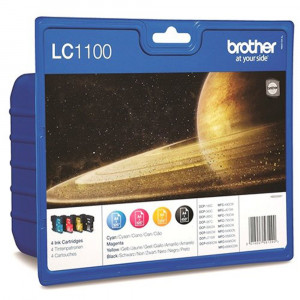 Brother PB-LC1100HVAL LC1100HY High Yield CMYK Ink Cartridge Pack