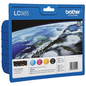 Brother PB-LC985VAL LC985 CMYK Ink Value Pack