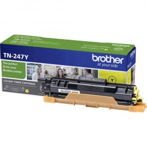 Brother TN247Y High Yield Yellow Toner Cartridge (2,300 Pages*)