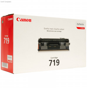 Canon 3479B002AA Black Toner Cartridge 719 (2,100 pages*)