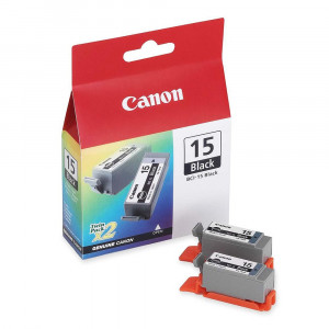 Canon BCI-15BK Black Ink Cartridges Twin Pack (2x 80 pages*) 8190A002
