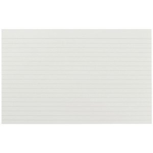 Q-Connect Record Card 8x5 Inches Ruled Feint White (100 Pack) KF35206