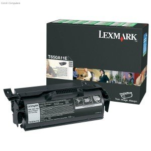 Lexmark 0T650A11E Black Return Program Print Cartridge (7,000 pages*) T650A11E