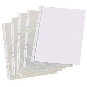 A4 Clear Punched Pockets (500 Pack) PM22312