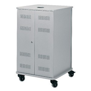 Nobo Grey Multimedia Projection Trolley Cabinet 1902339