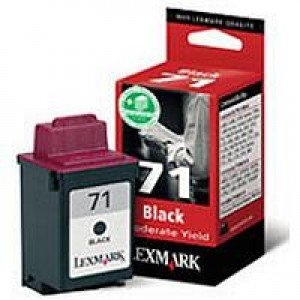 Lexmark 015MX971E #71 Moderate Use Black Print Cartridge 15MX971E