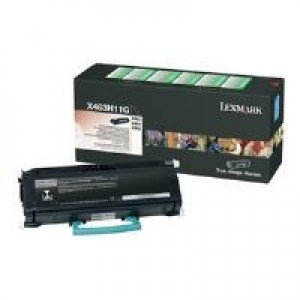 Lexmark X463H11G High Yield Black Return Program Toner (9,000 pages*) 0X463H11G