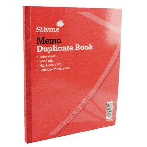 Silvine Duplicate 254x203mm Memo Book (6 Pack) 602-T