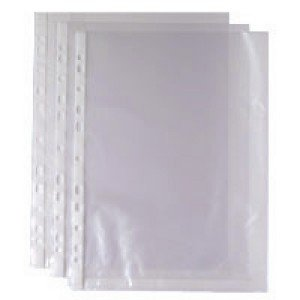 A4 Clear 35 Micron Punched Pocket (100 Pack) 270486 WX24001