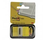Post-it Index Tab 25mm Yellow With Dispenser (50 Pack) 680-5