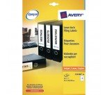 Avery Eurofolio File Label 134x11mm (600 Pack) L7170-25