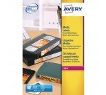 Avery White Laser Print Video Face Label 76x46mm (300 Pack) L7671-25
