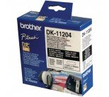 Brother Black on White Paper Multi Purpose Labels (400 Pack) DK11204