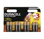 Duracell 1.5V AA Alkaline Battery (8 Pack) PLUS POWER AA 5+3