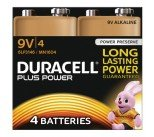 Duracell Plus 9V Battery (4 Pack) 81275463