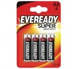 Eveready Super Heavy Duty AA Batteries (4 Pack) R6B4UP