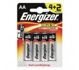 Energizer MAX E91 AA Batteries (4 + 2 Free Pack) E300142800