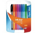 Paper Mate InkJoy 100 Assorted Ball Pen (8 Pack) 1927074