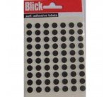 Blick Black Coloured Labels in Bags Round 8mm (9800 Pack) RS001751