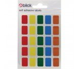 Blick Assorted Coloured Labels in Bags 12x18mm (2400 Pack) RS006251