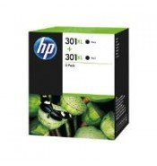 HP D8J45AE 301XL Black Ink Cartridge Twin Pack (2x 480 pages*)