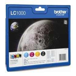 Brother LC1000VALBP LC1000 CMYK Ink Cartridge Value Pack