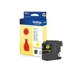 Brother LC121Y Yellow Ink Cartridge (300 pages*)