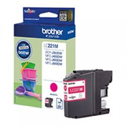 Brother LC221M Magenta Ink Cartridge (260 pages*)