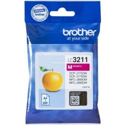 Brother LC-3211M Magenta Ink Cartridge (200 Pages*)