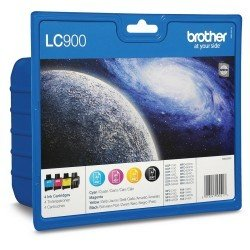 Brother PB-LC900VAL LC900 CMYK Ink Cartridge Pack