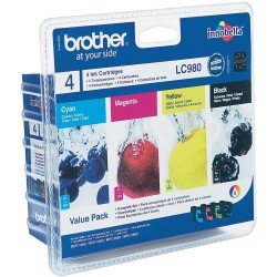 Brother LC980VALBP LC980 CMYK Ink Cartridge Value Pack