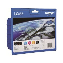Brother LC985VALBP LC985 CMYK Ink Cartridge Value Pack