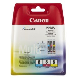 Canon 0621B026 CLI-8 Ink Multi-Pack (CMY)