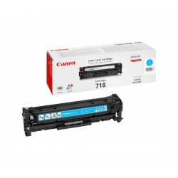 Canon 2661B002AA 718 Cyan Toner Cartridge (2,900 pages*)