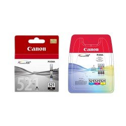 Canon PB-CLI521VAL CLI-521 CMYK Ink Cartridge Pack