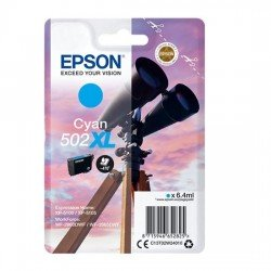Epson 502XL High Yield Cyan Ink Cartridge (470 Pages*) C13T02W24010
