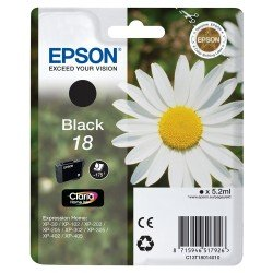 Epson 18 Standard Yield Black Ink Cartridge (5.2ml) C13T18014010