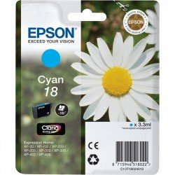 Epson 18 Standard Yield Cyan Ink Cartridge (3.3ml) C13T18024010