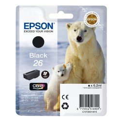 Epson T2601 Standard Yield 26 Black Ink Cartridge (6.2ml) C13T26014010