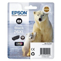 Epson T2631 High Yield 26XL Photo Black Ink Cartridge (8.7ml) C13T26314010
