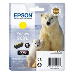 Epson T2634 High Yield 26XL Yellow Ink Cartridge (9.7ml) C13T26344010