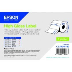 Epson C33S045720 High Gloss Die-cut Label Roll 76mm x 51mm (2310 labels)
