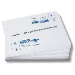 2,500 Franking Double Labels – 149mmx45mm (2 Labels Per Sheet, 1,250 Sheets)