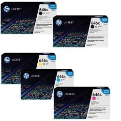 HP 646 CYM + 2 x K Toner Cartridge Multipack