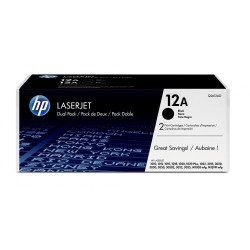 HP Q2612AD No.12A Black Toner Cartridge Twin Pack