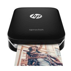 HP Sprocket ZINK Zero Ink Photo Printer (Black)