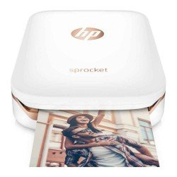 HP Sprocket ZINK Zero Ink Photo Printer (White)