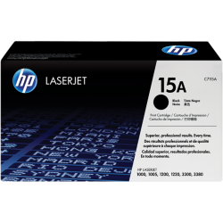 HP C7115A Standard Yield Black Toner Cartridge (2,500 pages*)